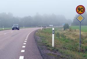 En sänkning från 90 km/tim till 80 km/tim minskar risken för dödlig utgång vid krock med 40 procent.