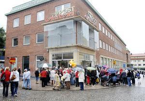 Öppningen av Postgallerian i augusti 2008.  Foto: VLT:s arkiv