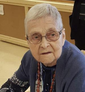 Sista bilden, fotograferad i samband med att Iris fyllde 93 år.