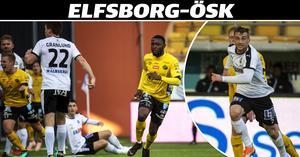 Albind Granlund (22) och Viktor Tranberg kunde inte stoppa Chinedu Obasi från att avgöra matchen. Filip Rogic (t h) var den ÖSK:are som försökte mest och oftast att kvittera.