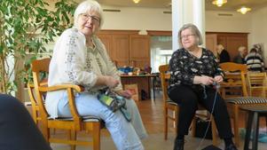 Barbro Lundgren bor i Andersberg och Ann-Marie Häggström på söder i Gävle. De är båda flitiga besökare på stickaféet i Södra Bomhus.