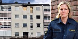 Josefine Perming Tengqvist, tillförordnad gruppchef vid grova brott på polisen i Västernorrland, säger att de följt många spår för att kunna fastslå vem som startat branden. Bilden är ett montage. Foto:  Hasse Tavér/Mats Olsson