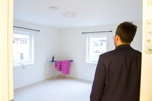 Ett av rummen som klienterna ska bo i. I snitt tillbringar varje klient tre månader som boende på Malmgården, berättar Jimmy Stenberg.