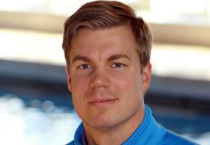 Hans Albrektsson, informationchef på simhallskedjan Medley.