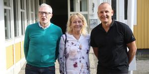 Stig Wiklund, forskaren Lena Boström och Hushållningssällskapets VD Frederik Innala.