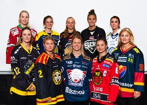 Spelare från samtliga lag i SDHL Foto: Simon Hastegård / Bildbyrån