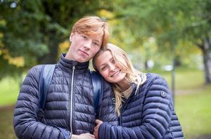 Fabian Wallman, 17 år och Andrea Levin, 16 år, studenter, Sundsvall.