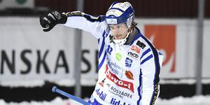 Jocke Anderssons kanon i 74:e minuten ekar än i Svenska Fönster Arena. Foto: Ulf Palm