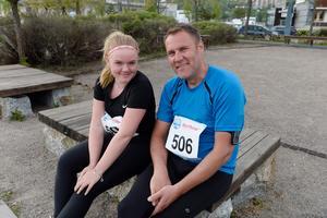 Agnes och Mattias Broberg sprang loppet för första gången.