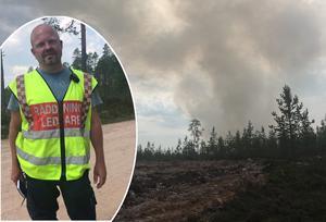 Räddningsledare vid Torgås-branden Mats Nilsson  Foto: Montage