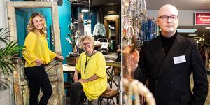 Vårens mode 2019. Gult och mycket accessoarer och smycken. Hanna Mikaelsson och Ewalena Persson från Crip i Sundsvall i modefärgen nummer ett i vår och Richard Björnsson på Återvunnet mode på Erikshjälpen bland smyckena som säljs som aldrig förr i vår.