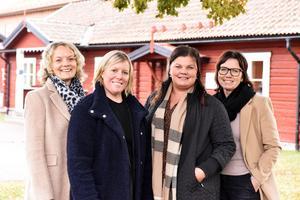 Maria Bälter, Linn Löfman, Linda Bäckman och Sara Axelsson ser fram emot den kommande galan.