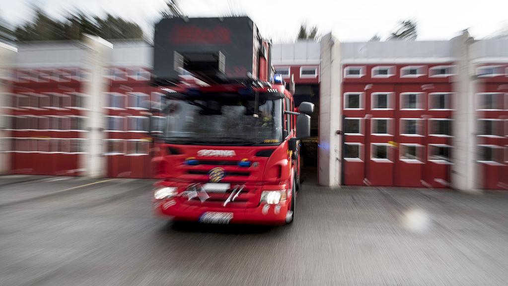 84 evakuerade i hyreshusbrand