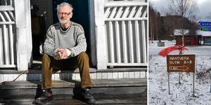 Konstnären Dag Wallin är besviken på den meningslösa vandalismen.