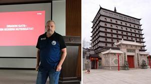 Olle Larsson, Sisyfosgruppen, presenterar sina planer för Dragon Gate.