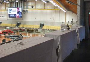 Så här ser det ut i VIP-logen som gjorts i ordning för konserten.