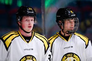 Brynäs Samuel Solem och Victor Söderström. Bild: Bildbyrån