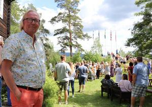 Tomas Wallin, ordförande i Stöde Hembygdsförening, ser fram emot att hålla Huberget öppet för besökare under sommarens programpunkter.