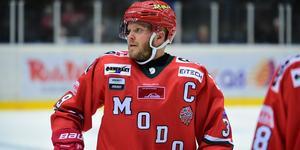 Tobias Enström stod över mötet med Södertälje, men är nu redo för derbyt, tillika seriefinalen, mot Björklöven. Bild: Robbin Norgren