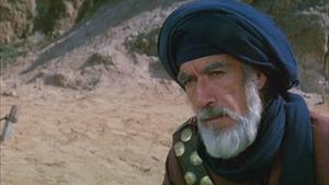 Anthony Quinn spelar Muhammeds farbror Hamza ibn Abd al-Muttalib i Moustapha Akkads film