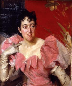 Mrs Bacon, ett av de amerikanska porträtt Anders Zorn målade i klara färger.