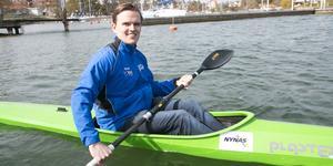 Fredrik Wolf,  ordförande i Nynäshamns segelsällskap kanotkommitté och även barn- och ungdomstränare i kajakpaddling.