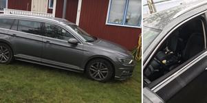 Bilen hittades på en sommarstugetomt i Armsjön. Bild: Albin Bovin