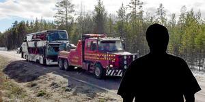 Olyckan där tre ungdomar miste livet inträffade 2 april 2017. Fotomontage: Stefan Persson/Mittmedia