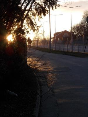 Tog bilden när jag var på väg hem från stan mot kvällningen.