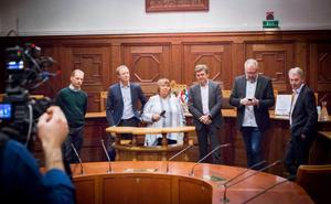 Arkivfoto: Martin Hanberg. Presskonferensen hösten 2015 när nyheten släpptes att Jämtkraft hade sålt sitt fibernät till IP Only. Jämtkraft hade en till spekulant men valde IP Only som ägs av riskkapitalbolaget EQT.