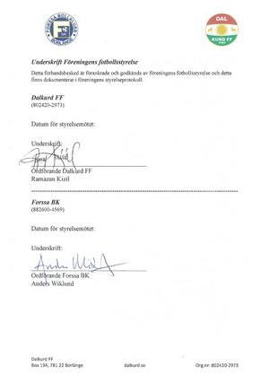 Ansökan är undertecknad av de båda föreningarnas ordföranden, Ramazan Kizil och Anders Wiklund.