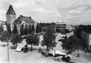 Stora torget 1940. Foto: Byggmästarföreningens arkiv