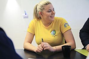 Studenten Tuva-Lisa Höglund ser fram emot att ha ett jobb inom skoltiden.