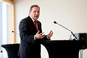 Statsminister Stefan Löfven höll ingen presskonferens under måndagen, till skillnad från Finlands president Sauli Niinistö.