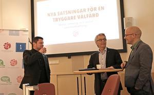 Örebros nuvarande kommunledning Per-Åke Sörman (C), Lennart Bondeson (KD) och Kenneth Nilsson (S) vill fortsätta regera tillsammans - för att stänga ute Sverigedemokraterna och Vänsterpartiet från kommunstyret.