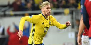 Emil Forsberg sköt en poäng till Sverige mot Norge. Bild: TT.