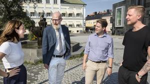 Matilda Molander (politisk redaktör), Daniel Nordström (chefredaktör), Erik Jersenius (kulturredaktör) och William Holm (nöjesredaktör).
