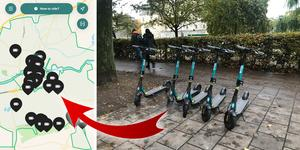 Enligt appen Qick finns cyklarna bland annat på Järntorget, vid Henry Allards park och Stortorget.