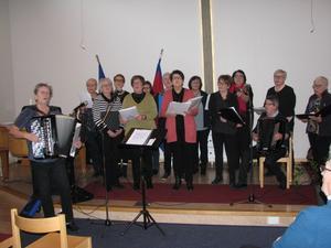 Lasarettssångarna sjöng vid Gemenskapsträff på Frälsningsarmén i onsdags.
