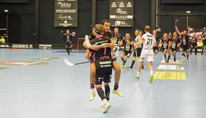 Falun firar efter Rasmus Enströms segermål.