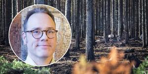 Christoffer Carstens, samordnare för klimatanpassning på Länsstyrelsen Gävleborg, var en av deltagarna.