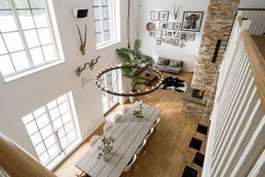 Villa byggd 2017 med närhet till både skidbackar och längspår. Foto: Andreas Timfält/Husfoto
