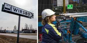 IF Metalls ordförande Monica Ström synar svetsfogarna i bergförstärkningsbultar. SSAB i Virsbo har återhämtat sig efter smällen 2015 och växer igen.