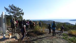 En storslagen utsikt när man väl hade kommit upp på berget. Foto: Åke Öberg