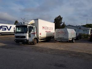 Lastat och klart för avfärd till Lettland vid förra årets resa. Foto: Privat