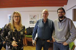 Biträdande rektorn Elin Ragnebro, pedagogen Jan Fransson och arbetsförmedlaren Göran Wahlsten är tre av dem som sköter projektet Påfart, tillsammans med pedagogen Karin Lundgren och projektledaren Vesa Sandström.