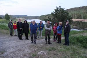 Vid Fönesjön, norr om Färila, kunde de 14 deltagarna höra en vattenrall i vassen, med sitt hamrande läte.