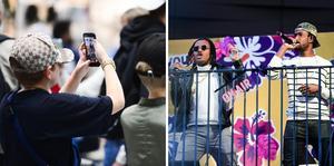 Hiphopgruppen Delingo var en av akterna som uppträdde under helgens musikfest på Asecs.