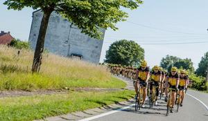 Cykelturen till Paris innebär långa dagsetapper.Foto: Thomas Nørremark