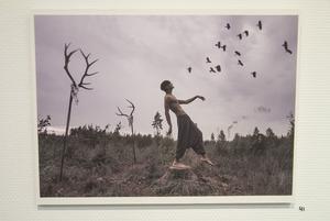 """Mikael Rinnströms """"Dark Yoga"""". Bildens överraskning får förlorad i detta lilla format. Gå och se utställningen!"""